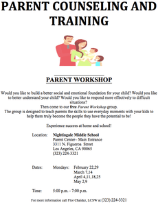 Parent Workshop / Taller para padres